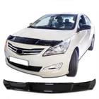 Дефлектор капота Hyundai Solaris хетчбэк, Classic, черный