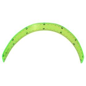 Набор геометрический, силиконовый, гибкий: линейка 30 см, 2 угольника, транспортир, МИКС
