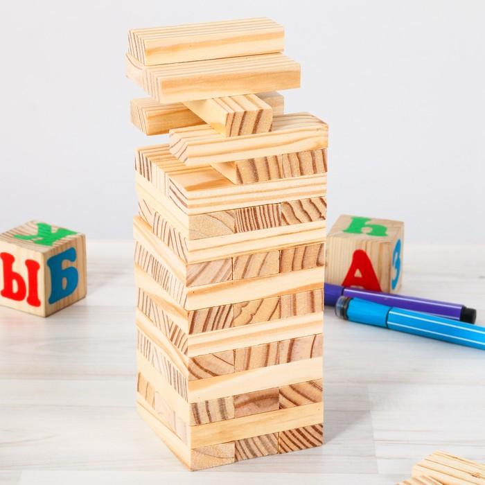 Настольная игра «Падающая башня. Для самых маленьких», 48 брусков
