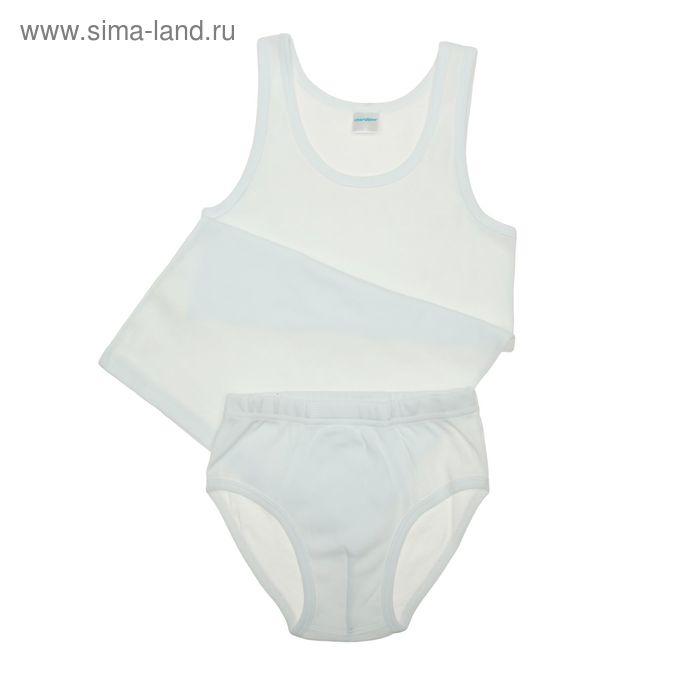 Комплект для мальчика (майка, трусы), рост 134 см (68), цвет белый (арт. CAJ 3137_Д)