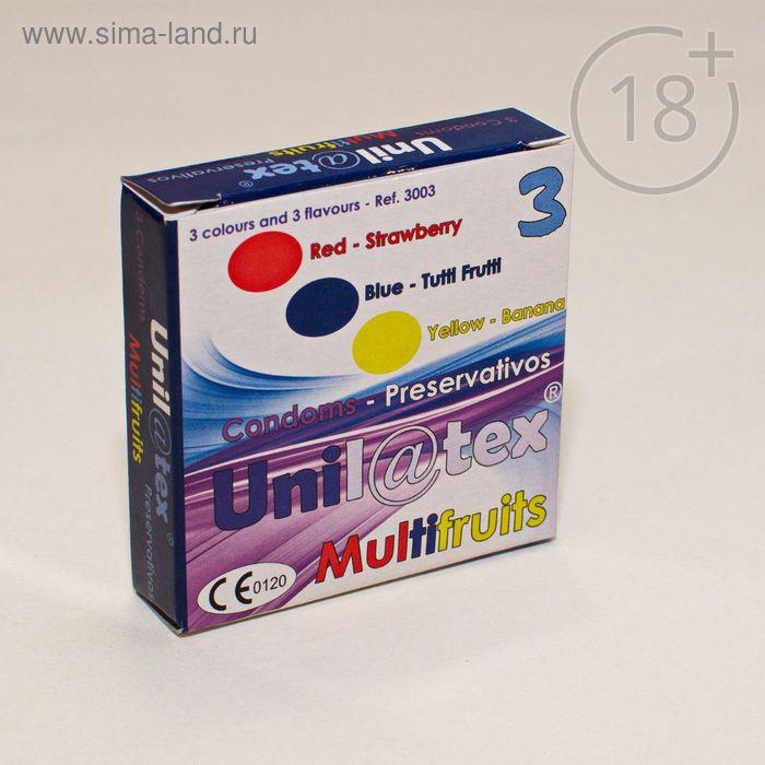 Презервативы «Unilatex» Multifruits Фруктовые, 3 шт