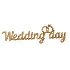 """Деревянная заготовка """"Wedding Day"""""""