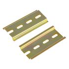 DIN rail mounting L 75, galvanized, color yellow