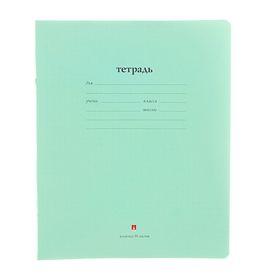 """Тетрадь 18 листов в клетку """"Народная"""", обложка мелованная бумага, зеленая"""