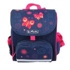 Ранец дошкольный Herlitz MINI SoftBag, 24 х 20 х 14, для девочки, Butterfly, синий