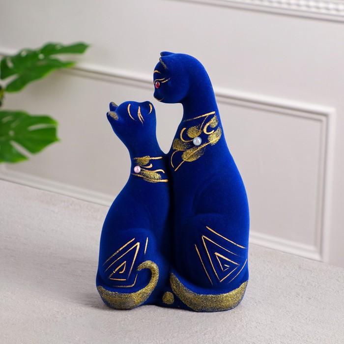 """Копилка """"Скиф"""", покрытие флок, синяя, 28 см"""