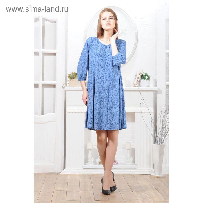 Платье 4791а, размер 46, рост 164 см, цвет синий/черный