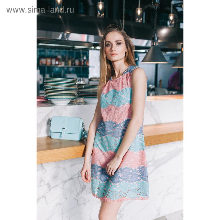 Платье 4802, размер 42, рост 164 см, цвет розовый/мятный