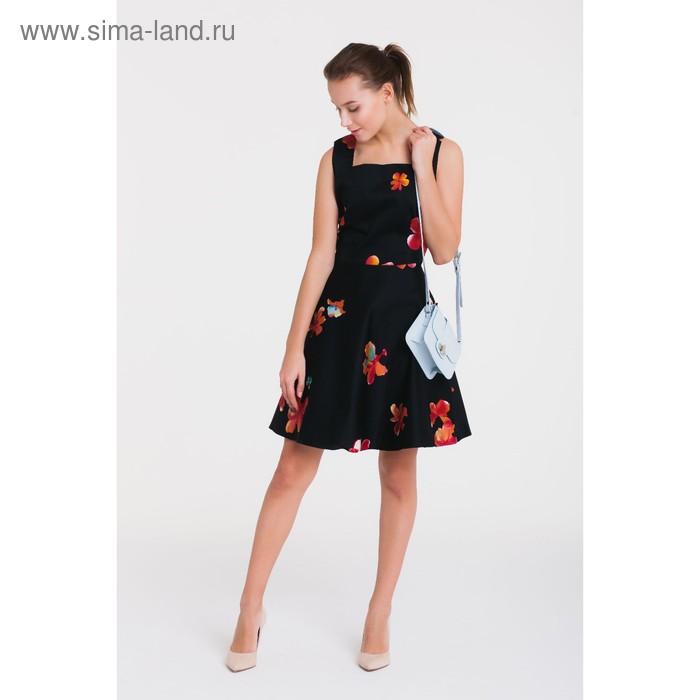 Платье 4788а, размер 48, рост 164 см, цвет черный/красный