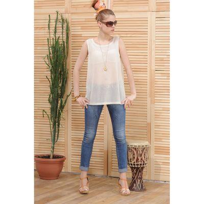 Блуза женская 4809а цвет молочный, р-р 46, рост 164 см