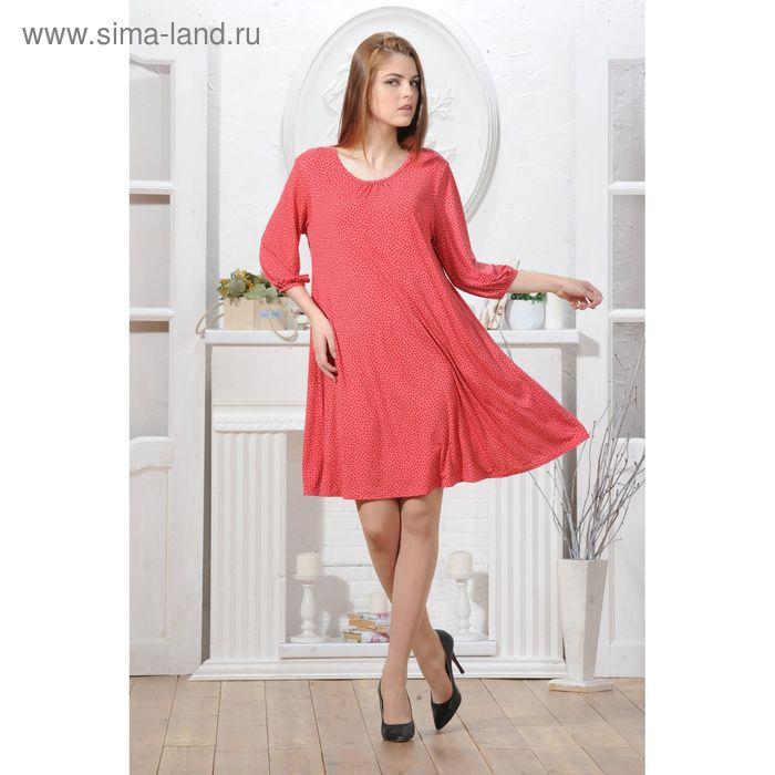 Платье 4791, размер 46, рост 164 см, цвет коралл/черный