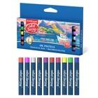 Пастель масляная 10 цветов Top-Level Creative Line, суперяркие цвета, диаметр 9мм