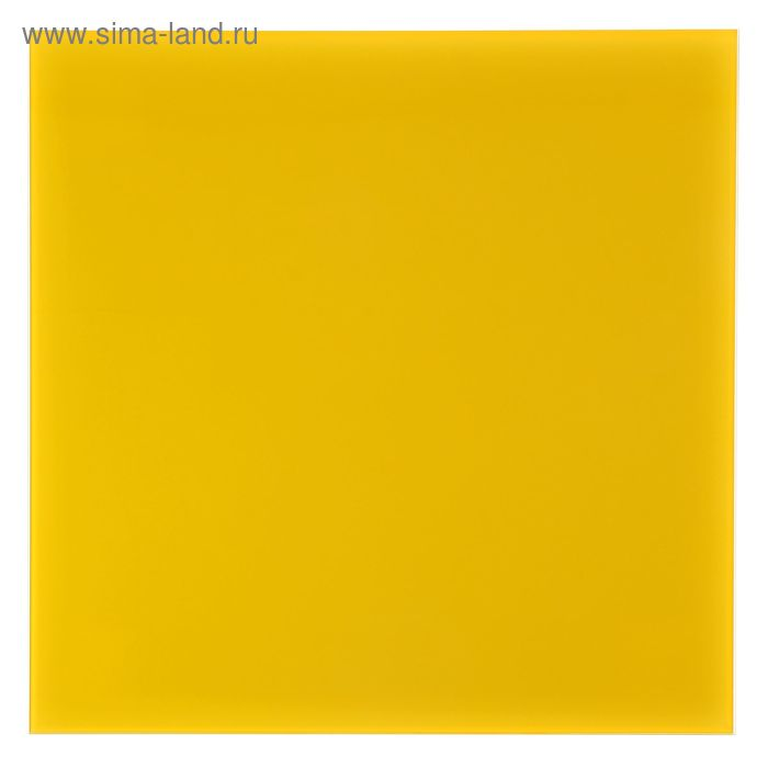 Доска магнитно-маркерная стеклянная 45*45 LUX, лимонный 022