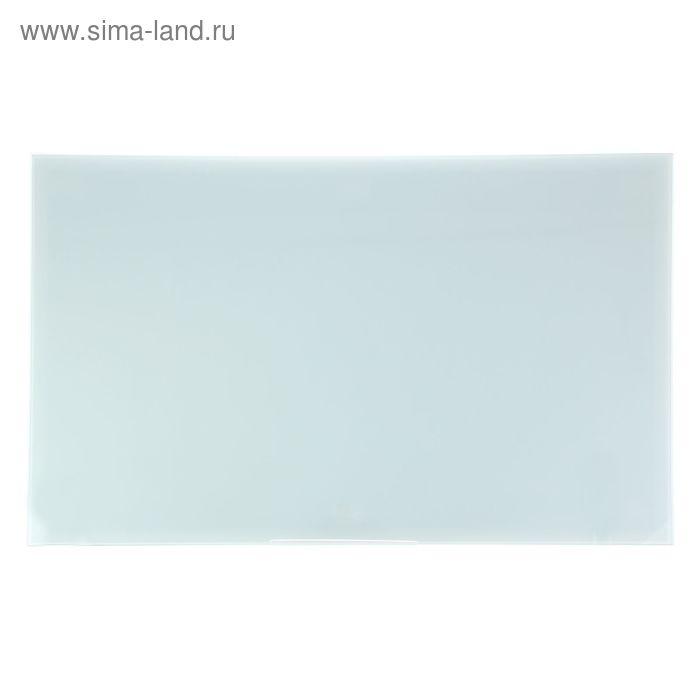 Доска магнитно-маркерная стеклянная 60*90 LUX, белый 010