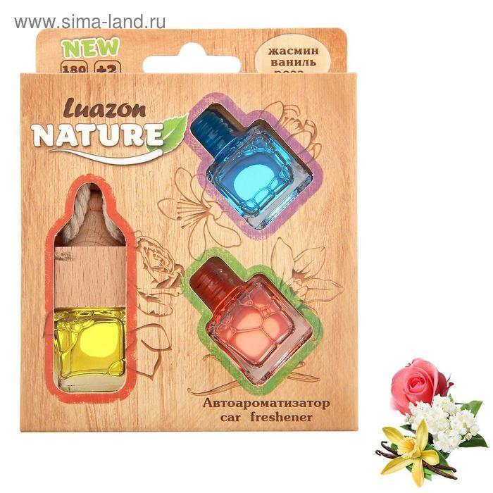 Набор ароматизаторов со сменным блоком жасмин, ваниль, роза