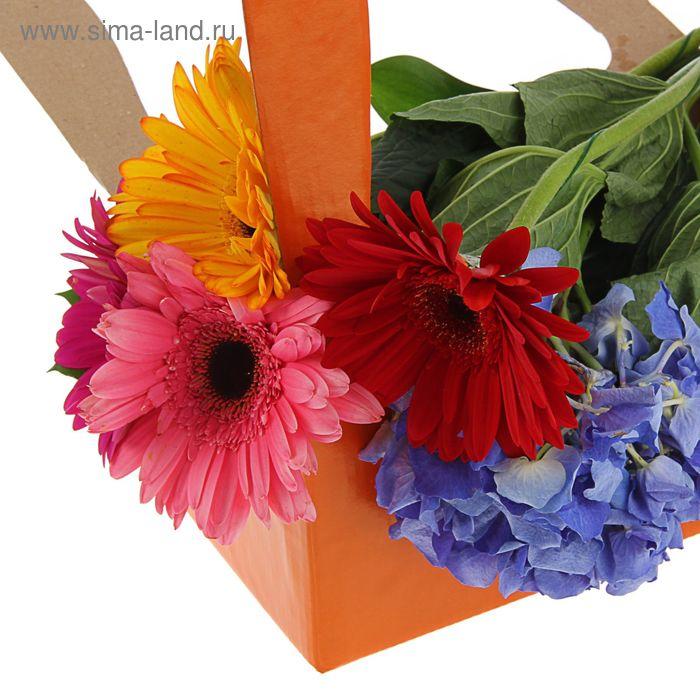Корзинка для цветов 25,5 х 15 х 40 см, терракот
