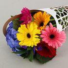 """Пакет для цветов с вырубкой """"Мед"""", кувшин 37 х 18 см"""