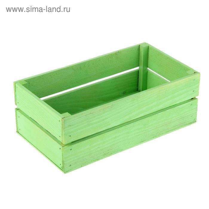 Ящик реечный №1 зеленый, 24.5 х 13.5 х 9 см