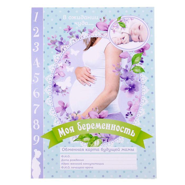 """Папка для обменной карты """"Моя беременность"""""""