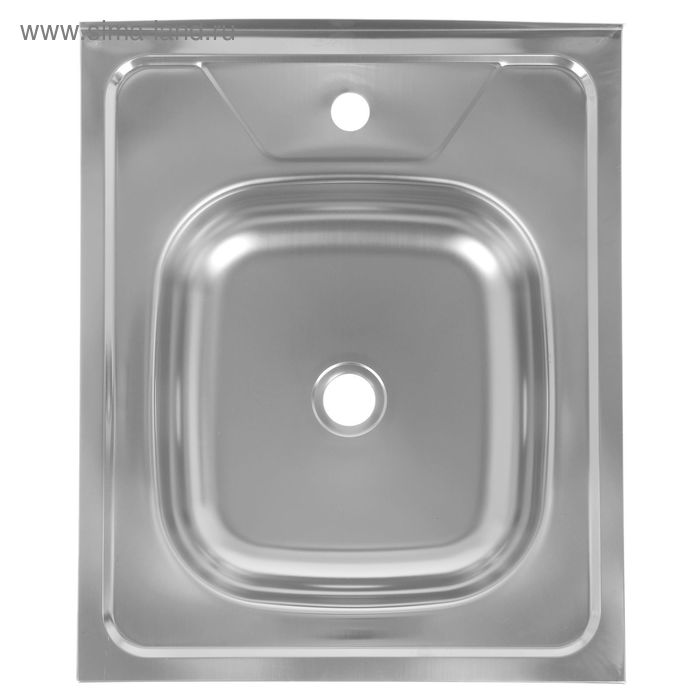 Мойка кухонная, накладная, нержавеющая сталь, 500х600 мм