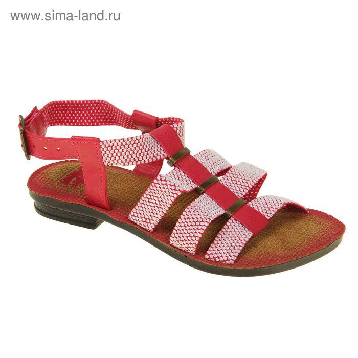 Туфли летние женские открытые, цвет розовый, размер 38 (арт. 143006-17 EW)