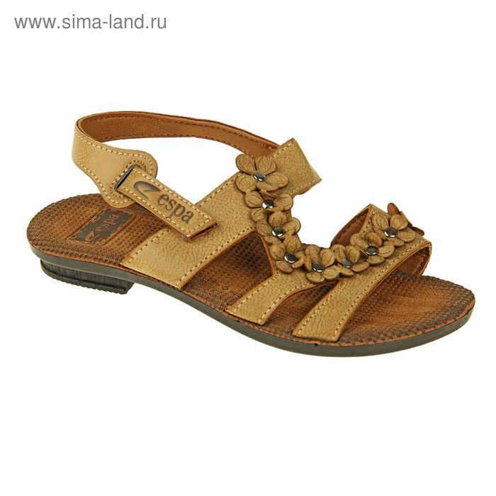 Туфли летние женские открытые, цвет бежевый, размер 38 (арт. 143009-3 EW)