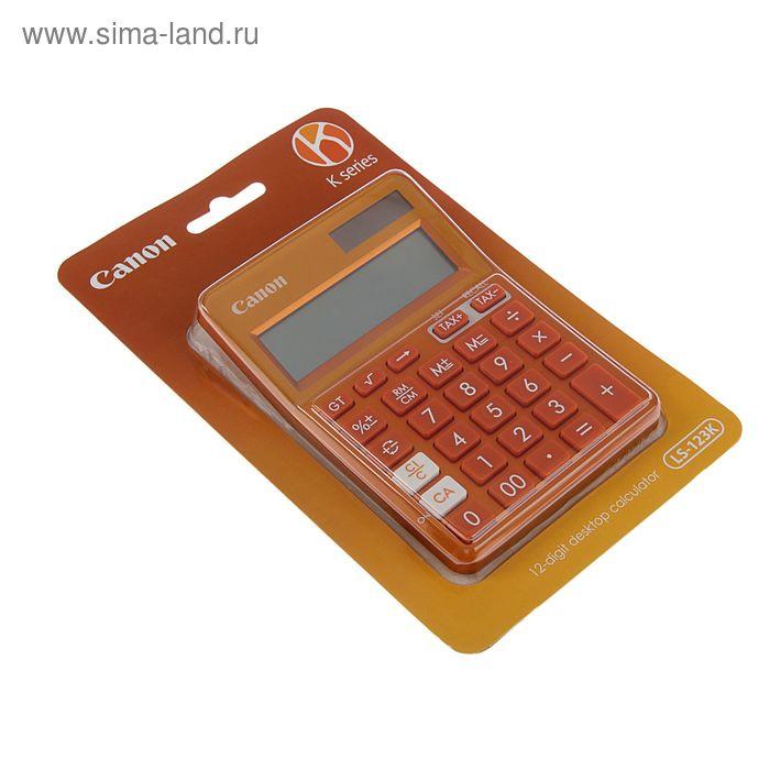 Калькулятор настольный 12-разрядный LS-123-K-MOR, оранжевый