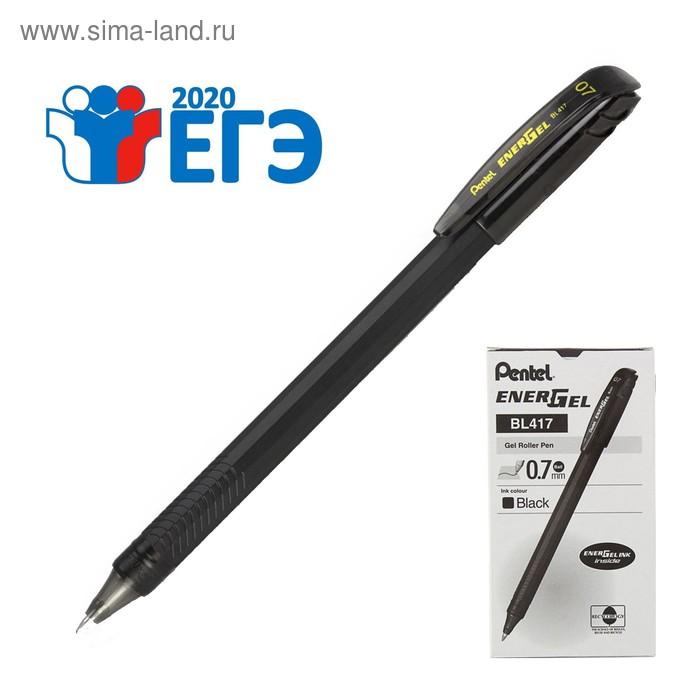 Ручка гелевая Pentel Energel 417, черный корпус, быстросохнующие чернила, 0.7мм, черный (LR7)