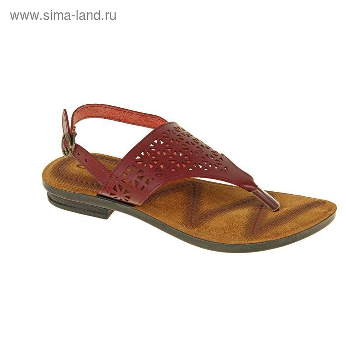 Туфли летние женские открытые, цвет розовый, размер 39 (арт. 143005-12 EW)