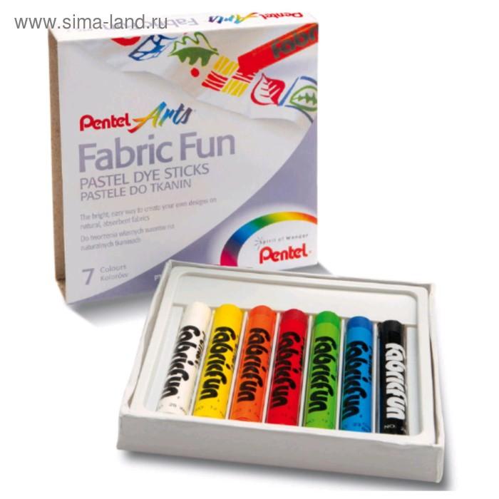 Пастель для ткани Pentel FabricFun Pastels, 7 цветов, 8/60 мм