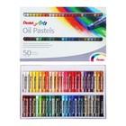 Пастель масляная 50 цветов Pentel 8/60мм, в картоне