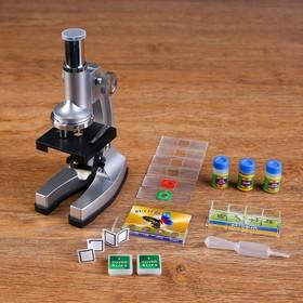 Микроскоп х 100-450, 3 баночки, стекла,, конт-ры, пинцет, подсветка, 2 АА бат не в комплекте Ош