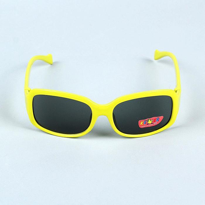 """Очки солнцезащитные детские """"Oversize"""", оправа и форма МИКС, линзы чёрные, 13 × 4.5 × 3.5 см"""