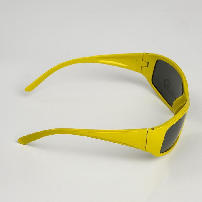 """Очки солнцезащитные детские """"Спорт"""", оправа МИКС, линзы чёрные, 3.5 × 4.5 × 13 см"""