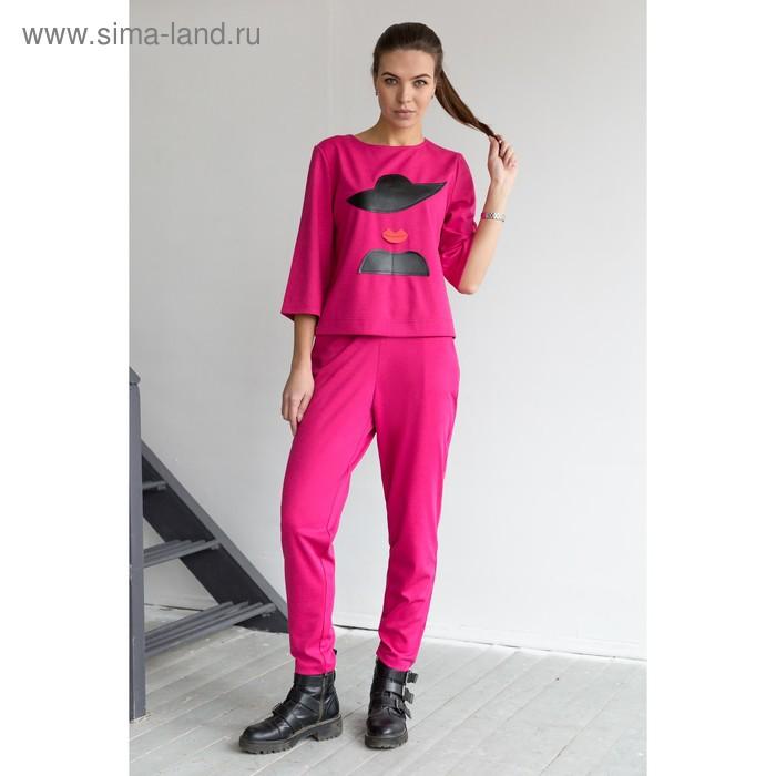 Блуза, размер 52, рост 164 см, цвет малиновый (арт. 4849 С+)