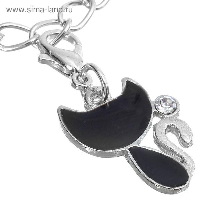 """Шармик """"Кошечка"""", цвет черный в серебре"""