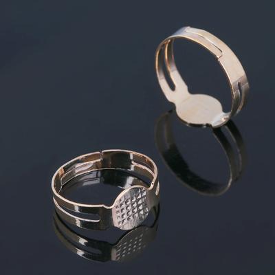 Основа для кольца регулируемая, площадка 6 мм (набор 5шт), цвет золото