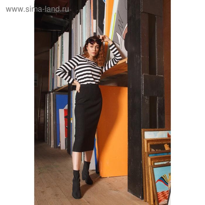 Блуза 4864 С+, размер 52, рост 164см, цвет черно-белый