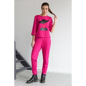 Блуза, размер 50, рост 164 см, цвет малиновый (арт. 4849 С+)