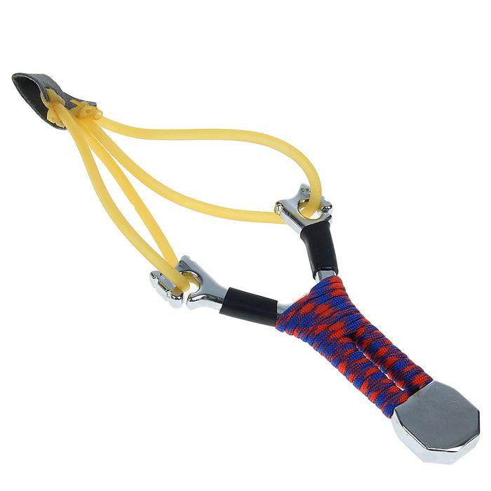 Рогатка с двойным жгутом, 10х15х2 см, плетение на рукоятке