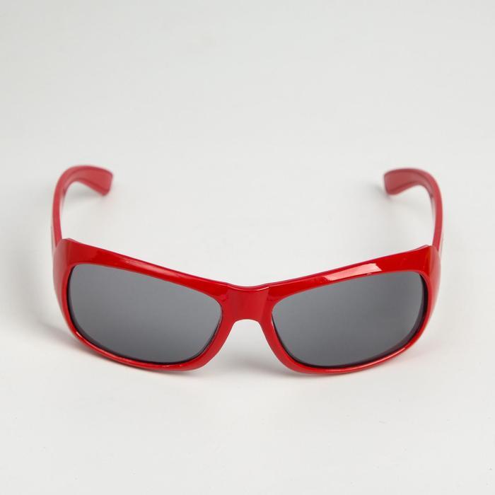 """Очки солнцезащитные детские """"Square"""", оправа МИКС, дужки овал, линзы чёрные, 13 × 4.5 × 3.5 см"""
