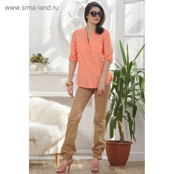 Блуза, размер 52, рост 164 см, цвет персиковый (арт. 4890 С+)