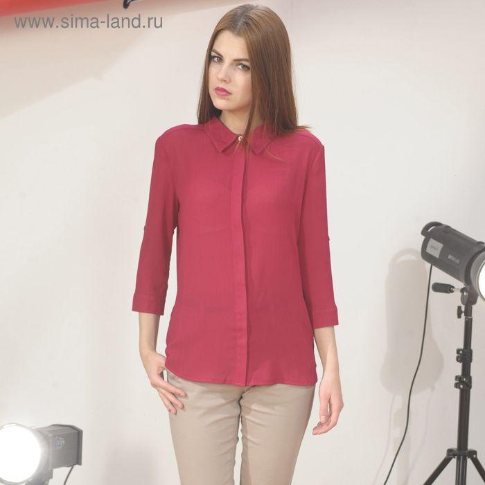 Блуза 4887г, С+, размер 52, рост 164см, цвет бордовый