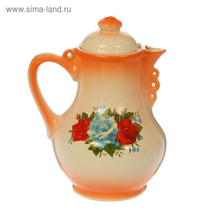 """Кувшин """"Барыня"""" оранжевый,1,7 л"""