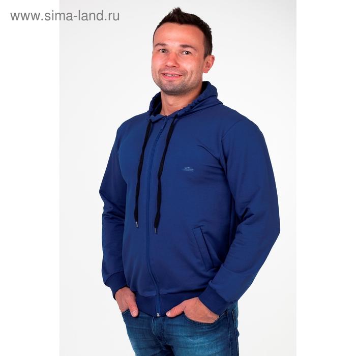 Толстовка мужская на молнии с капюшоном арт.0180, цвет джинс, р-р M