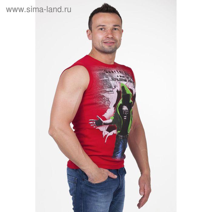 Майка мужская арт.0351, цвет красный, р-р XL