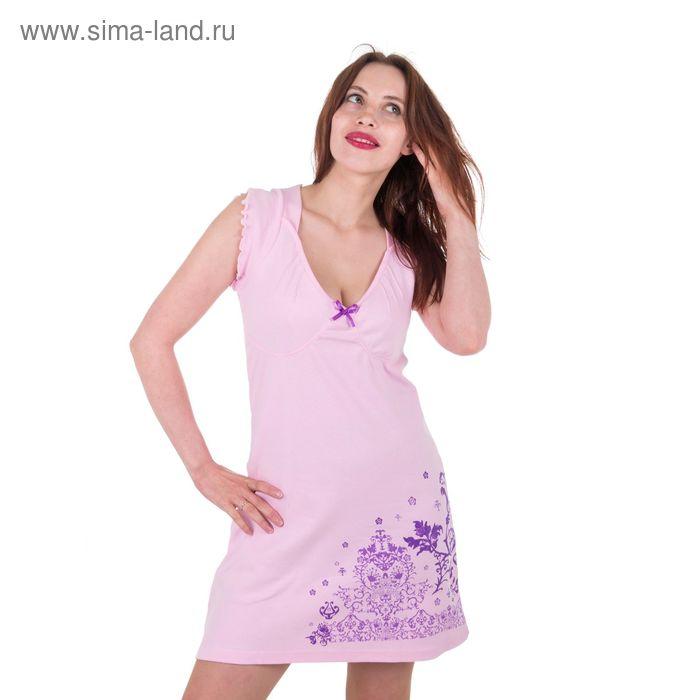 Сорочка женская, цвет розовый, размер 52 (арт. 30168)