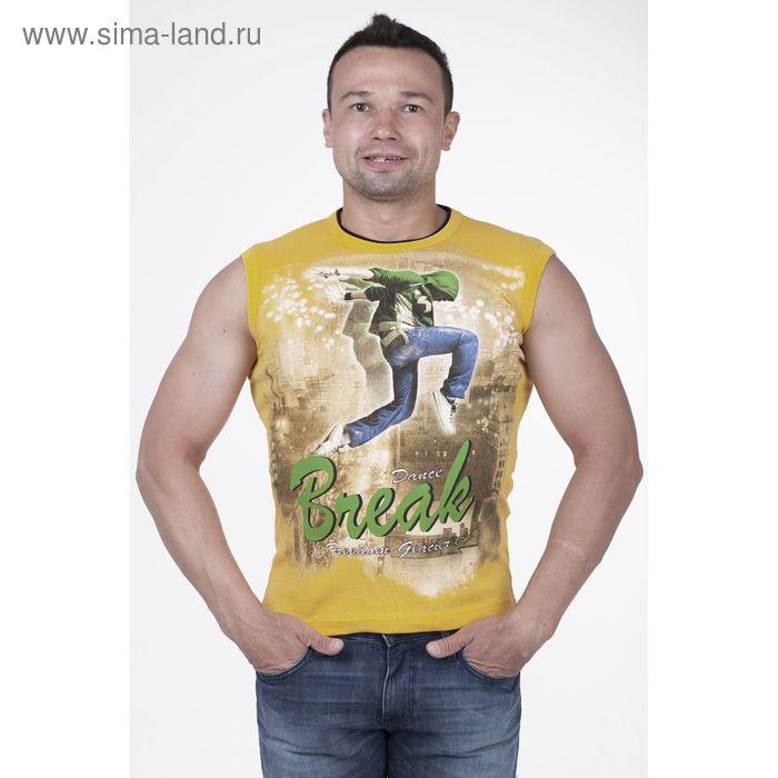 Майка мужская арт.0350, цвет жёлтый, р-р 3XL