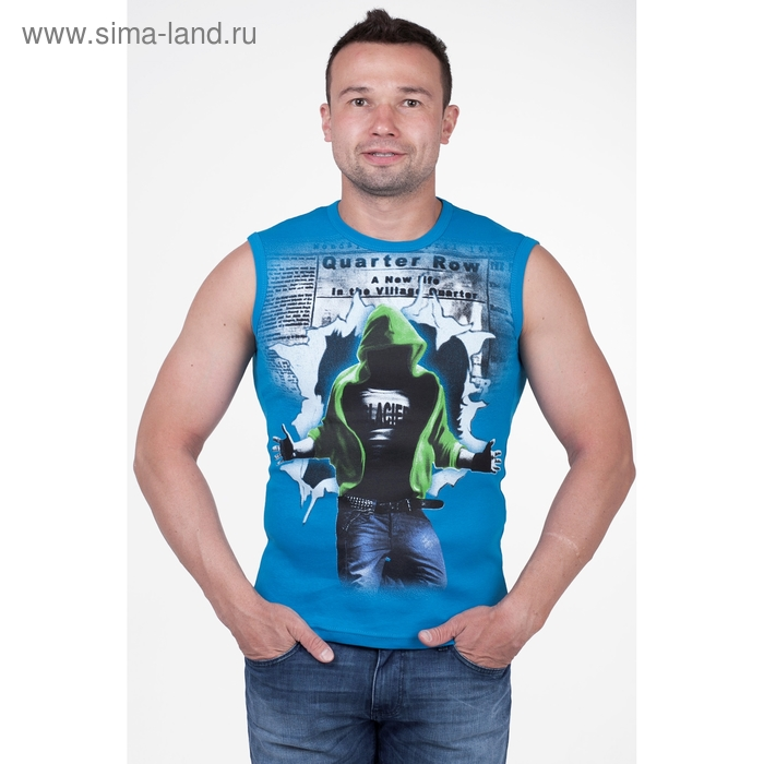 Майка мужская арт.0351, цвет бирюзовый, р-р L