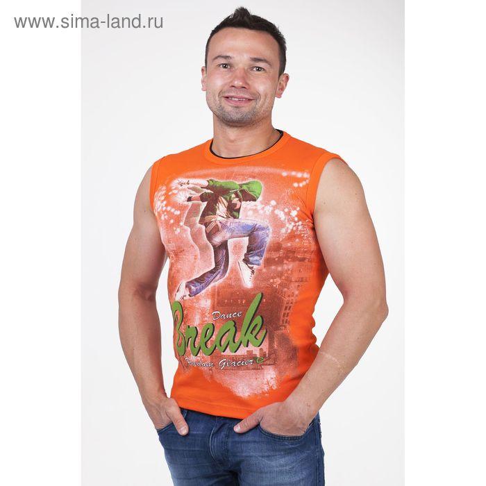 Майка мужская арт.0350, цвет оранжевый, р-р XL